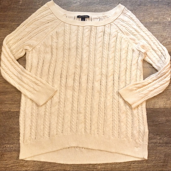 31b073d3bea American Eagle Outfitters Sweaters   American Eagle Cream ...
